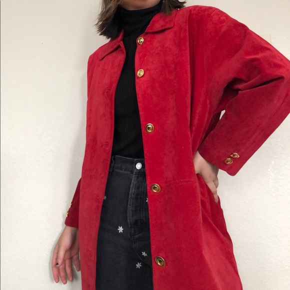 SOLD REAL suede coat